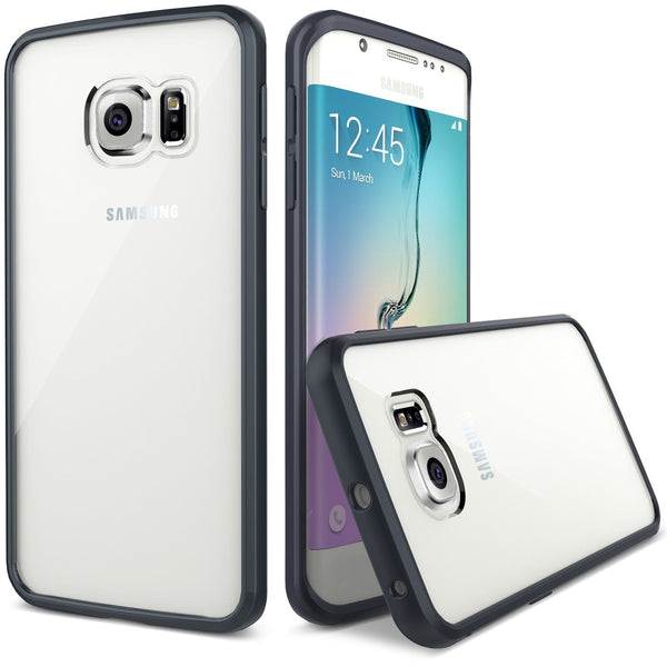 Samsung galaxy S6 EDGE Case - Hybrid Black