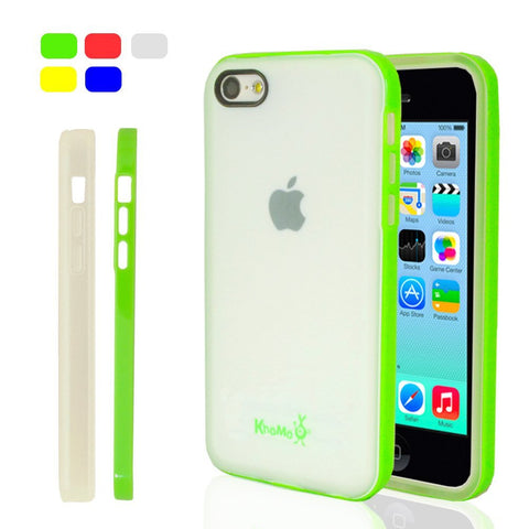iPhone 5C Clear Hybrid Case - Green