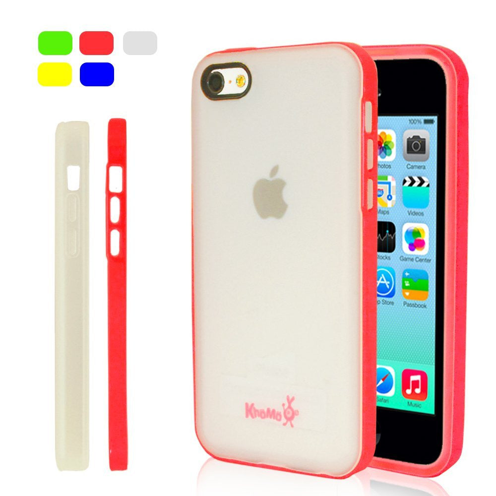 iPhone 5C Clear Hybrid Case - Pink