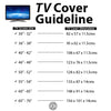 Outdoor TV Cover - Universal Waterproof Protector for 50 to 52 - Black