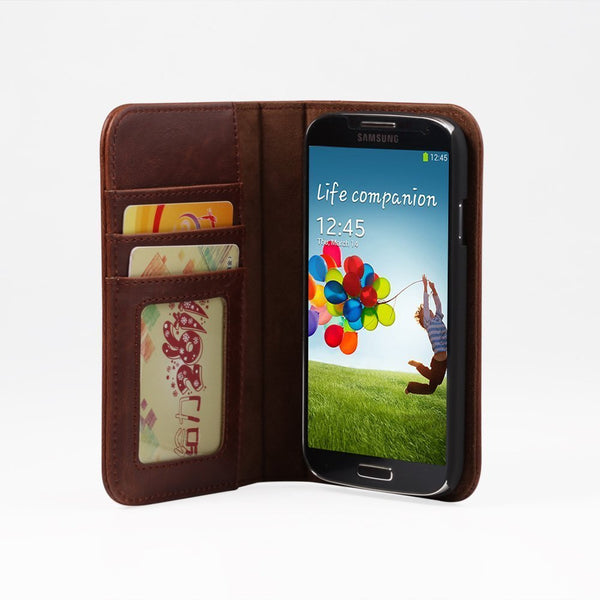 Leather Wallet Case for Samsung Galaxy S4
