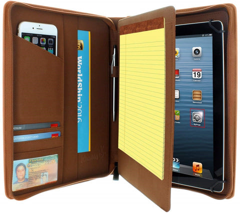 Universal Tablet Pad folio Zippered Case for 8.5'' up to 11'' tablets - Brown - VC-universal-Brown