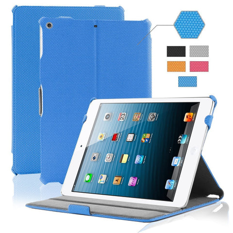 iPad Air Grid Leather Case - BLUE