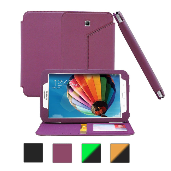 Galaxy Tab 3 7.0 Flip Case - Purple