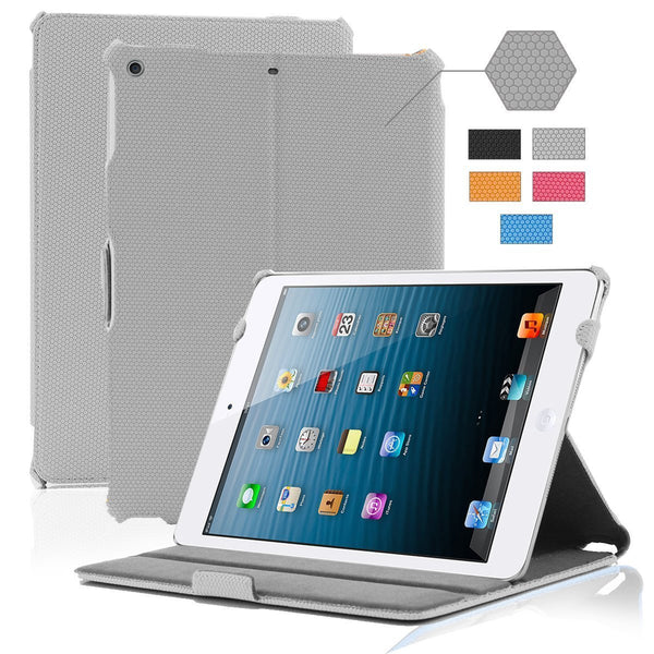 iPad Air Grid Leather Case - GREY