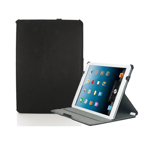 iPad Mini 1, 2, 3, 4 - Black Leather Executive Handstrap Case