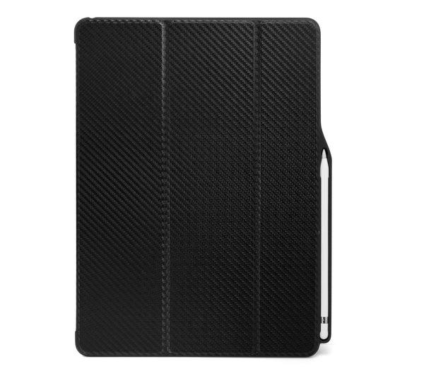 iPad PRO 12.9 2017 / 2015 Smart Case - DUAL PENCIL HOLDER COVER - Carbon Fiber