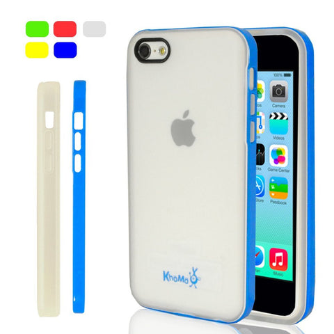 iPhone 5C Clear Hybrid Case - Blue