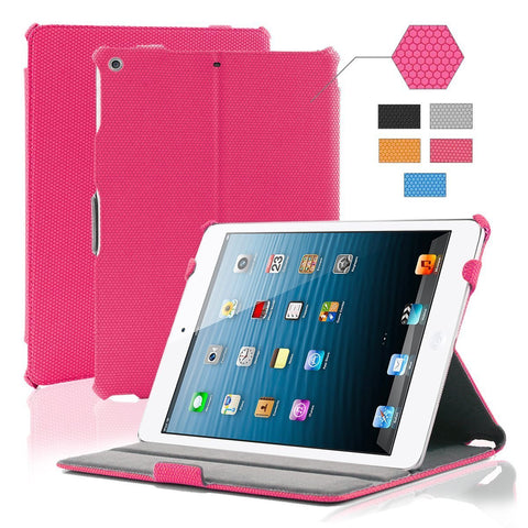 iPad Air Grid Leather Case - PINK