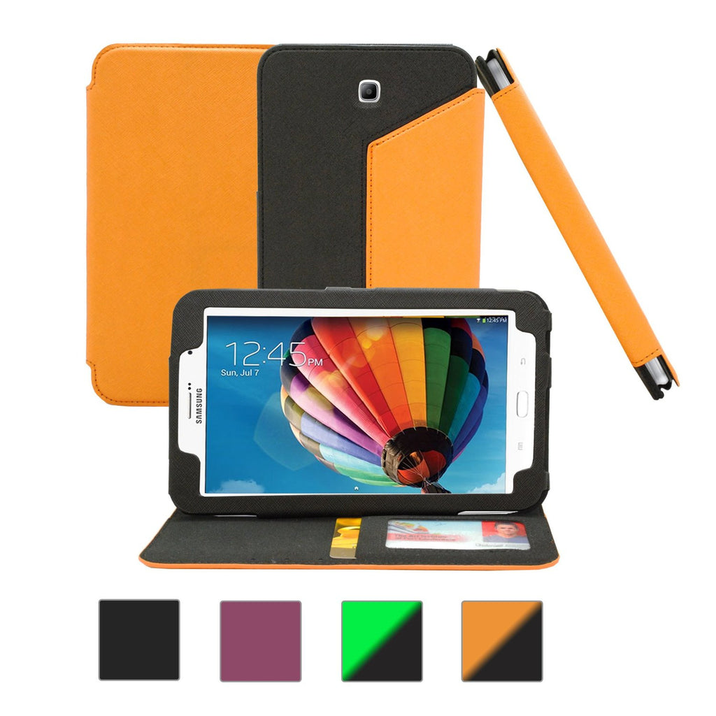Galaxy Tab 3 7.0 Flip Case - Black & Orange