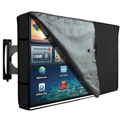Outdoor Transparent TV Cover - Universal Waterproof Protector for 50 to 52 - Black