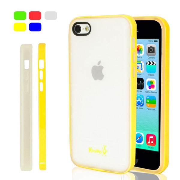 iPhone 5C Clear Hybrid Case - Yellow