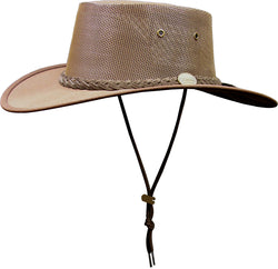 e446a28eee9 Barmah Hat canvas cooler 1057 brown