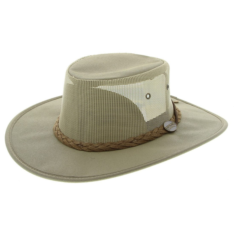 Barmah Hat | 1057 Foldaway Cooler Khaki Canvas