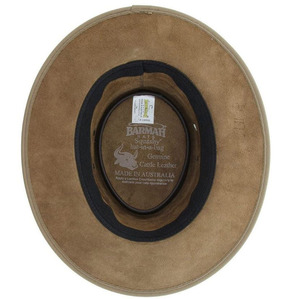 Barmah Hat 1060 Bronco Hickory - Inside
