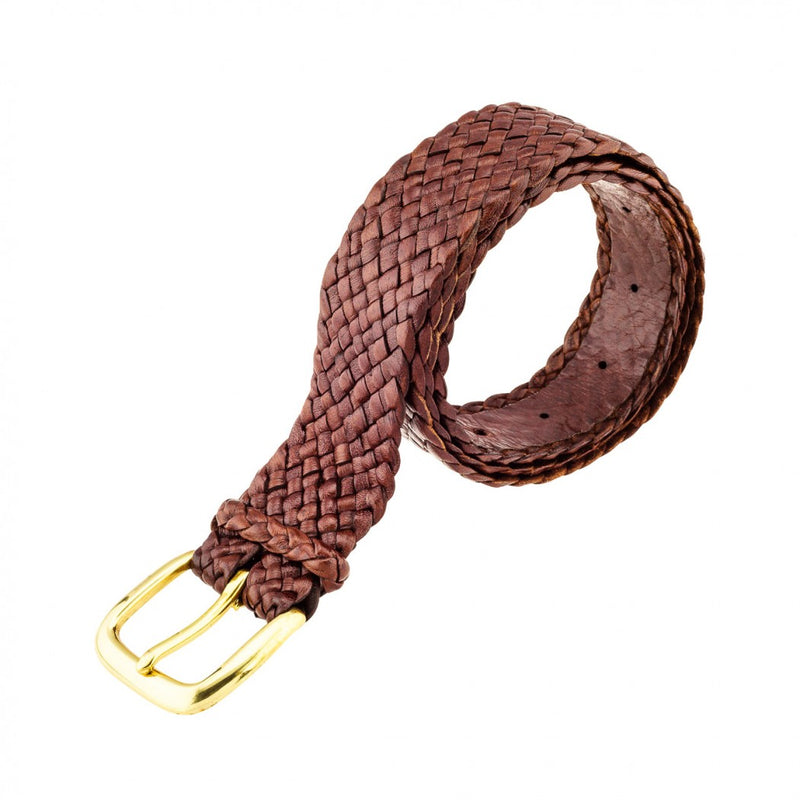 Barmah Kangaroo Leather Belt - Balmain - Brown rolled
