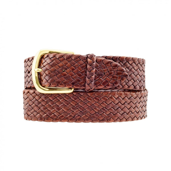 Barmah Kangaroo Leather Belt - Balmain - Brown Handmade