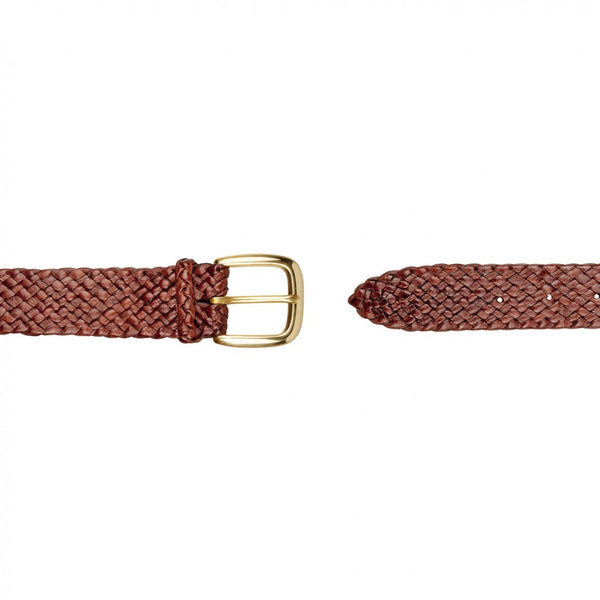 Barmah Kangaroo Leather Belt - Balmain - Brown open