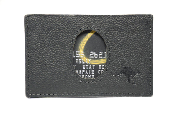 Black M1 Kangaroo Leather Minimalist wallet with RFID protection