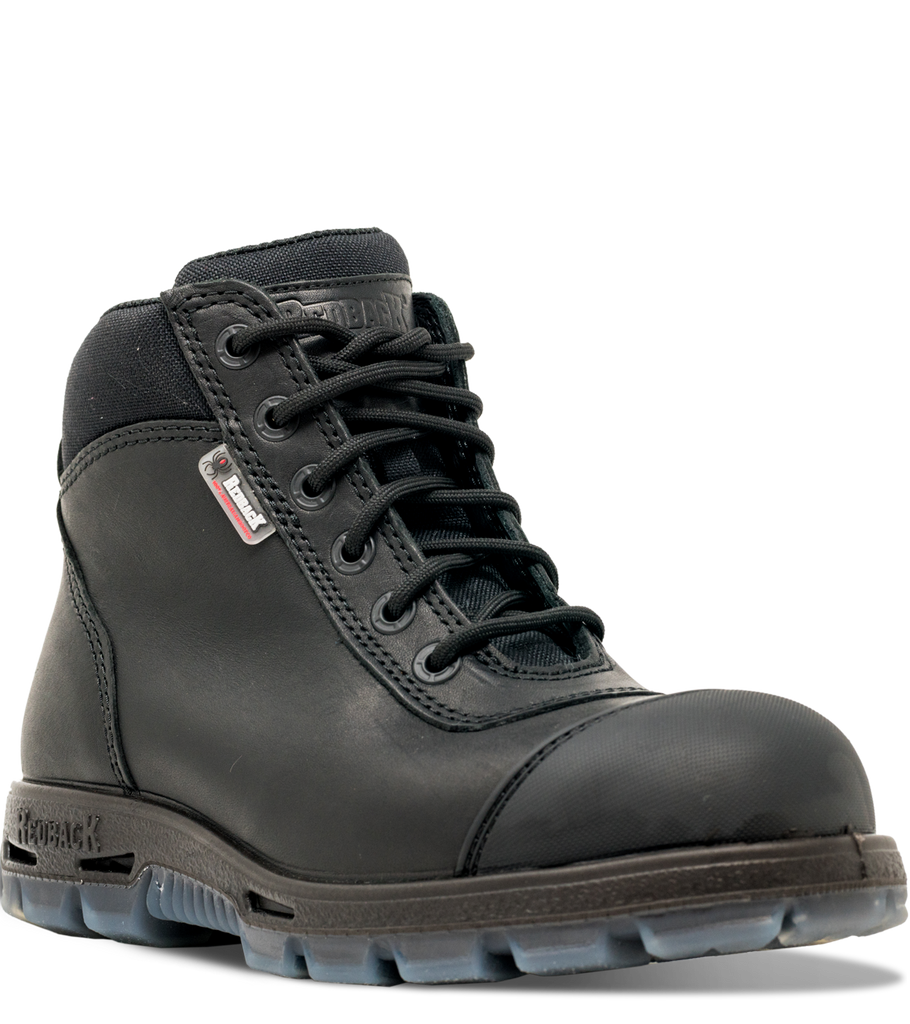 cddc390c567 Redback Cobar Lace/Zip up Safety Boots | Black USCBZS
