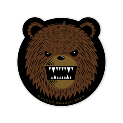 Danger Ranger Bear Sticker Prometheus Design Werx