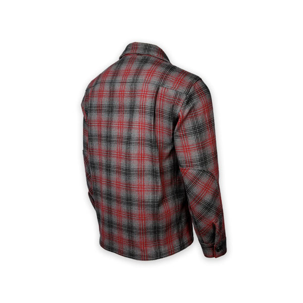 DRB Woodsman Shirt - Merino Red-Black-Gray Plaid