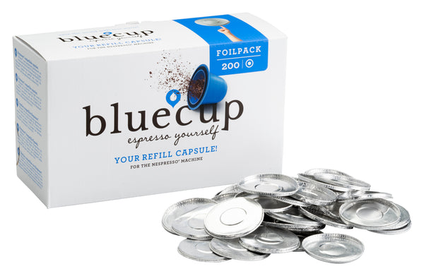 Bluecup Foilpack Fill THe CApsules with your favourite coffee