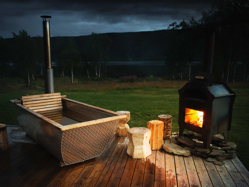 Hikki Bohemen Wood Fired Hot Tub UK Swedish