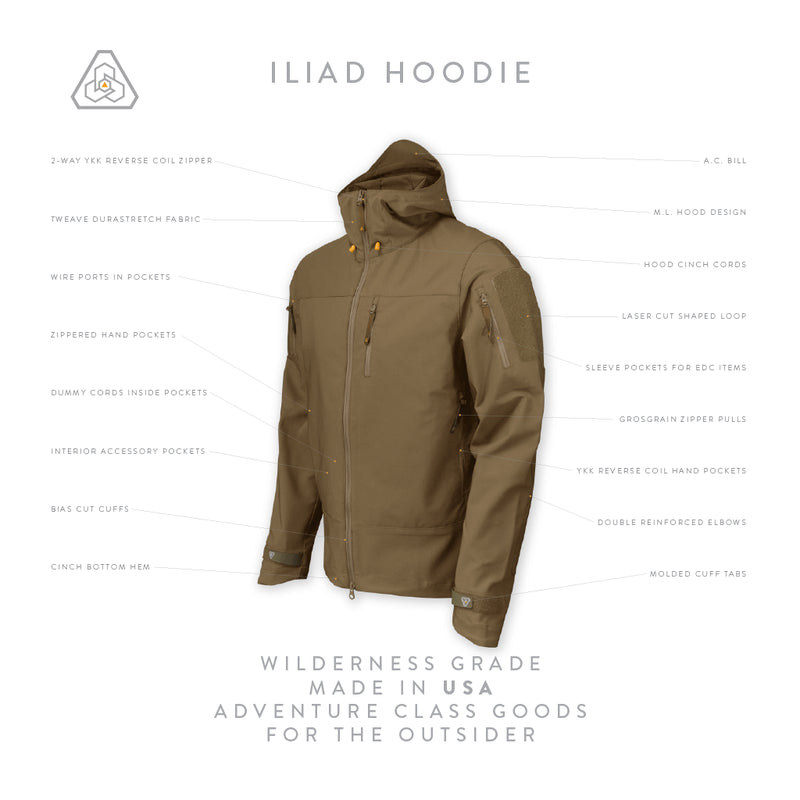 Prometheus Design Werx Iliad Field Jacket - DAE - Dark Arid Earth Success