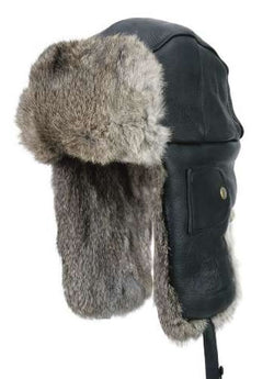 Mad Bomber Leather Winter Hat
