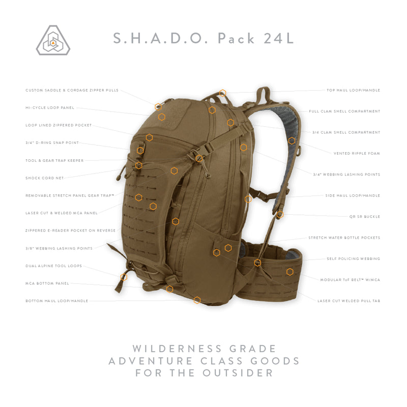 Prometheus Design Werx S.H.A.D.O. Pack 24L - All Terrain Brown