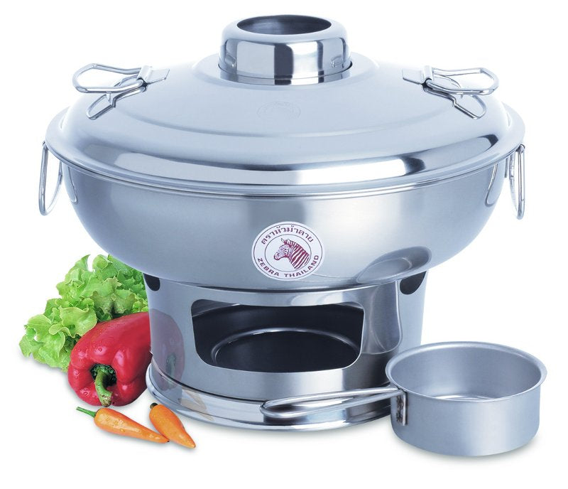 Zebra Stainless Steel Mongolian Hot Pot 26cm