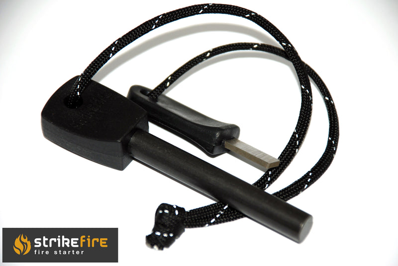 StrikeFire Strike Fire Ferocerium Rod Ferro Lighting Large Military Striker