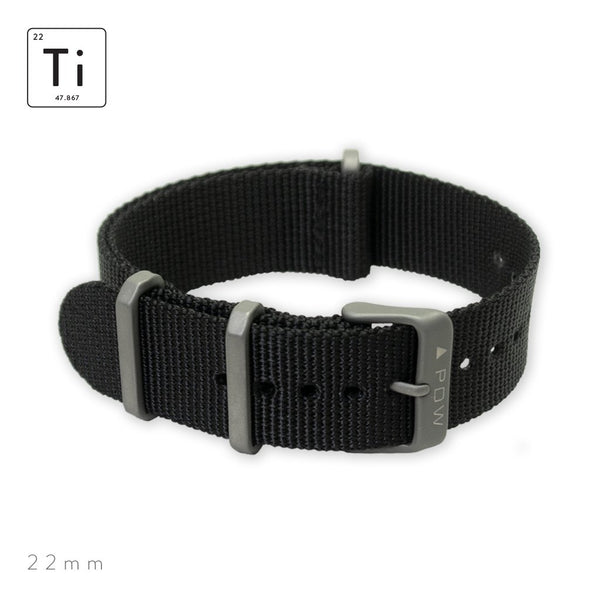 Prometheus Design Werx Ti-NATO Strap 22mm - Black