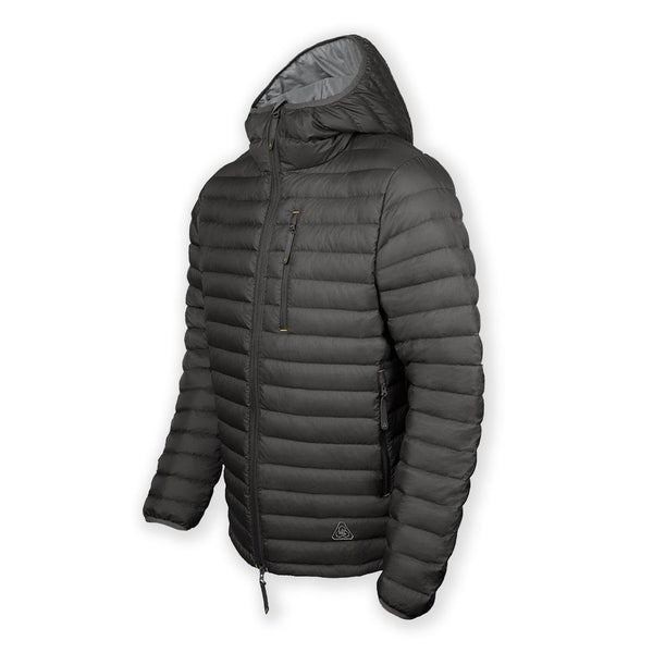 Tycho Down Hoodie - Grey Goose Down Jacket