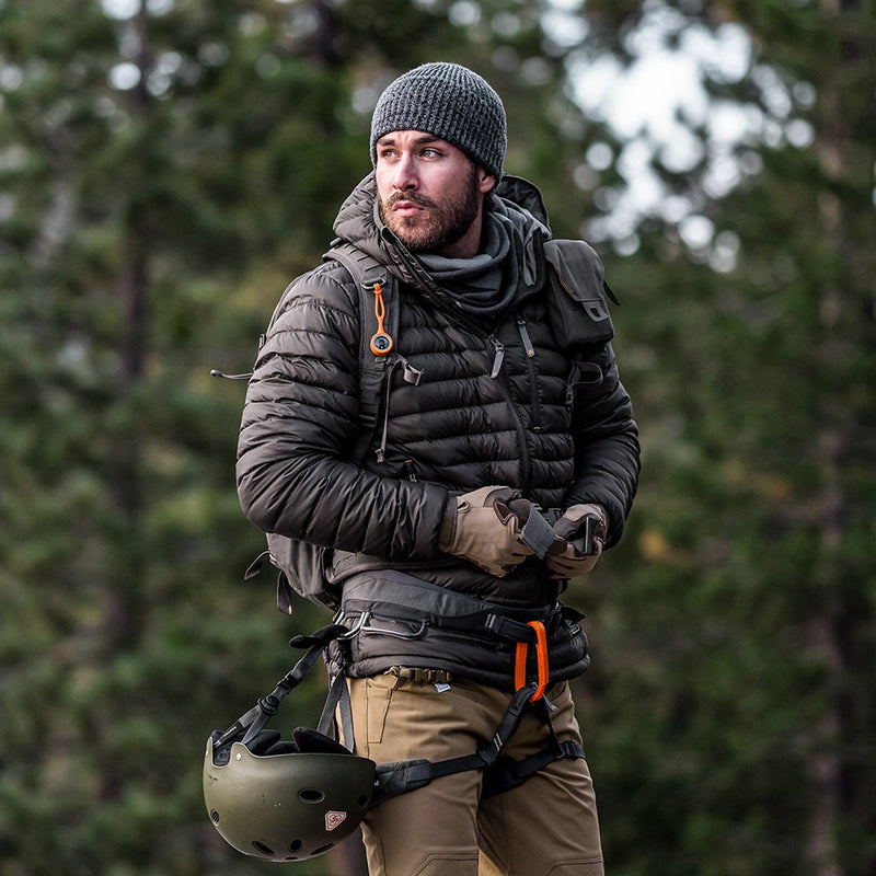 Prometheus Design Werx PDW Tycho Down Hoodie - Grey Goose Down Jacket