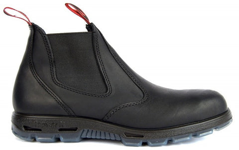Side view of Redback Safety Boot black USBBK