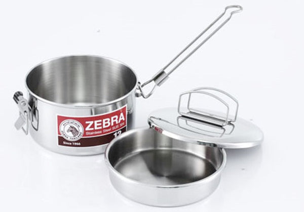Zebra 14cm Camping Cooking Pot Bushcraft Survival Camping Gardening