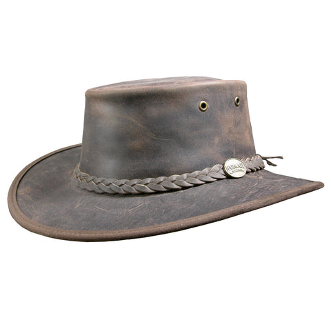 brown barmah hat, australian leather hat