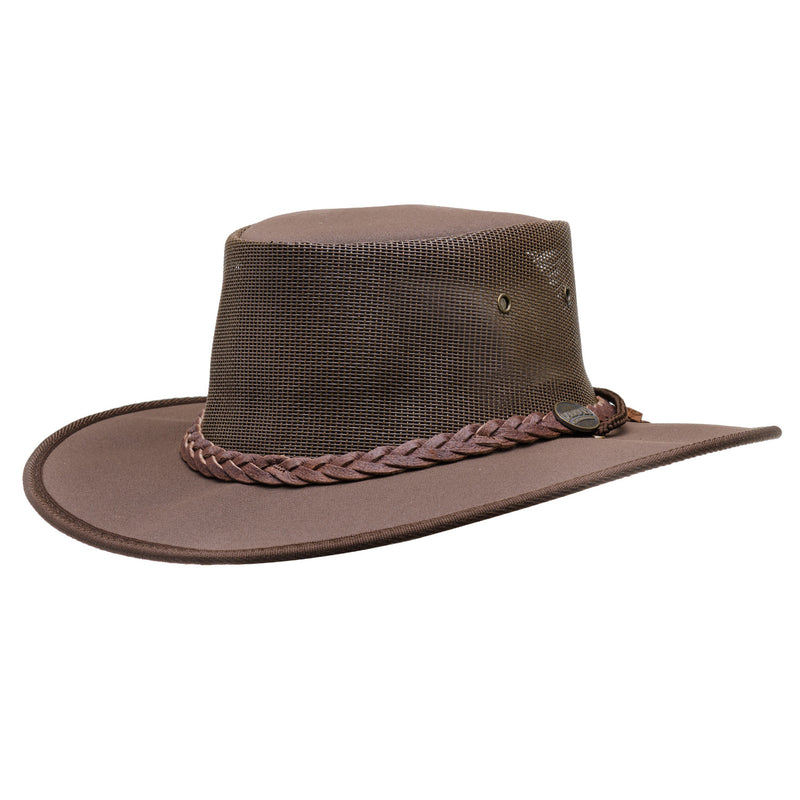22e4c5103dd brown barmah hat canvas drover 1050
