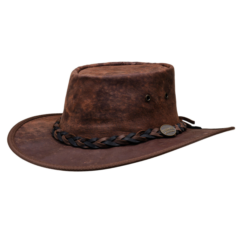 1018 hickory squashy kangaroo leather barmah hat