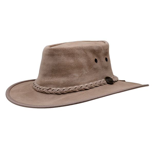 1025 Mocha suede Barmah hat australian leather shop uk