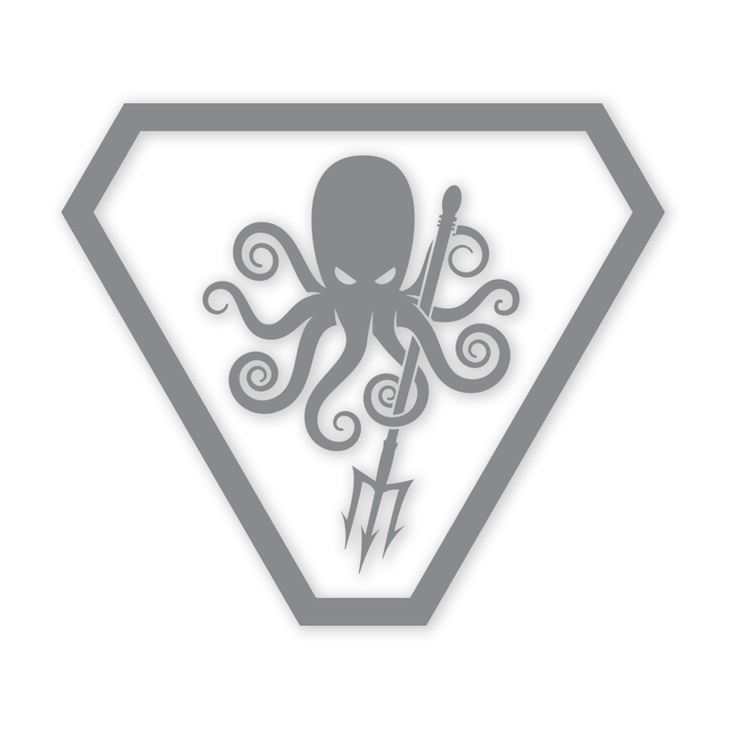 Prometheus Design Werx SPD Kraken ProCut Sticker - Grey
