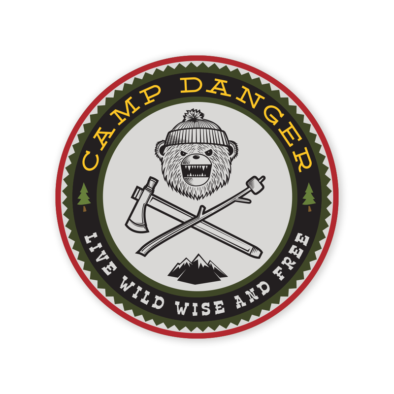 Prometheus Design Werx DRB Camp Danger Sticker
