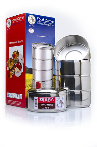 Zebra Food Carrier / Tiffin Box 18 cm - 5 Layer