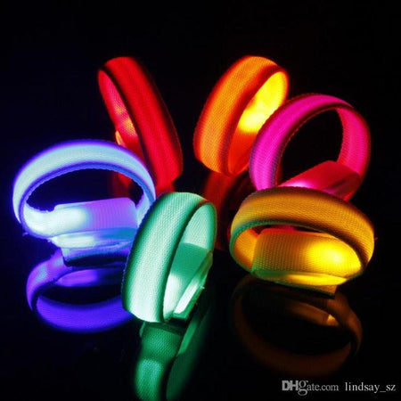 LED coloured light. Arm Bands