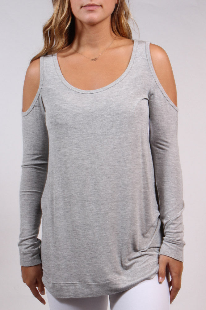 Cold Shoulder Grey