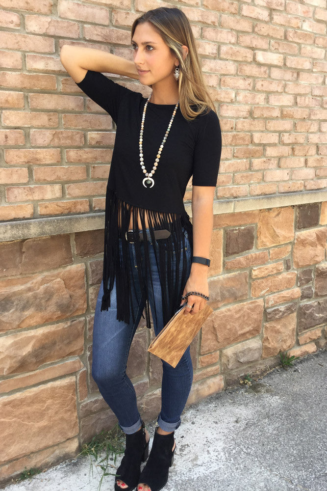 Long Fringe Top