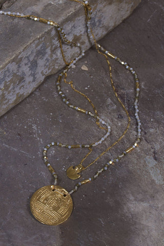 Base Metal Coin Necklace