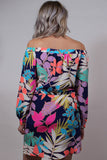 Multi Color Off The Shoulder Dress Back View